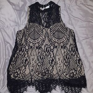 New york and company lace top small